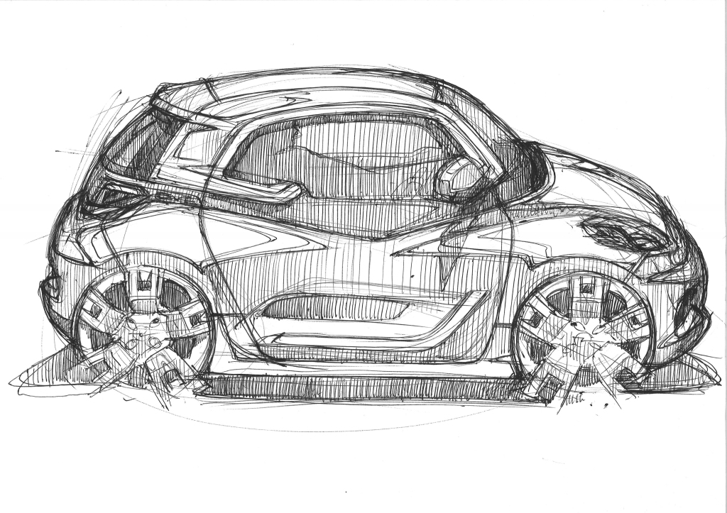 Opel EVE first sketch