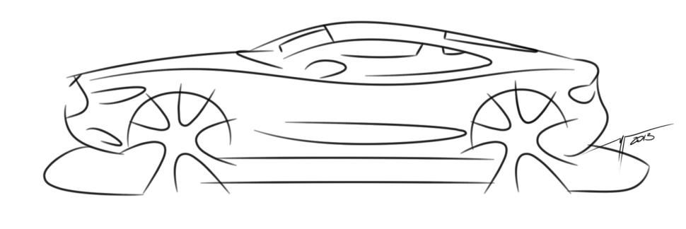 Jaguar coupe sketches