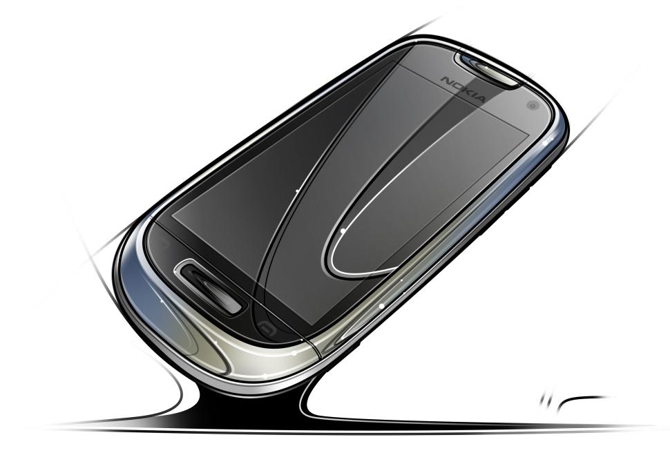 NokiaC7_front sketch