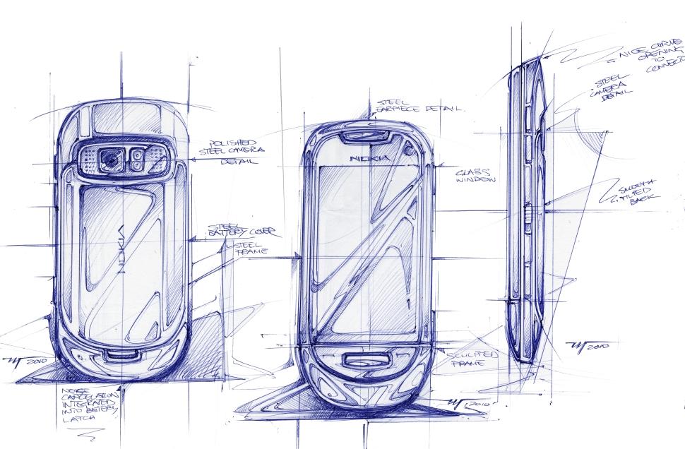 NokiaC7_hand sketch