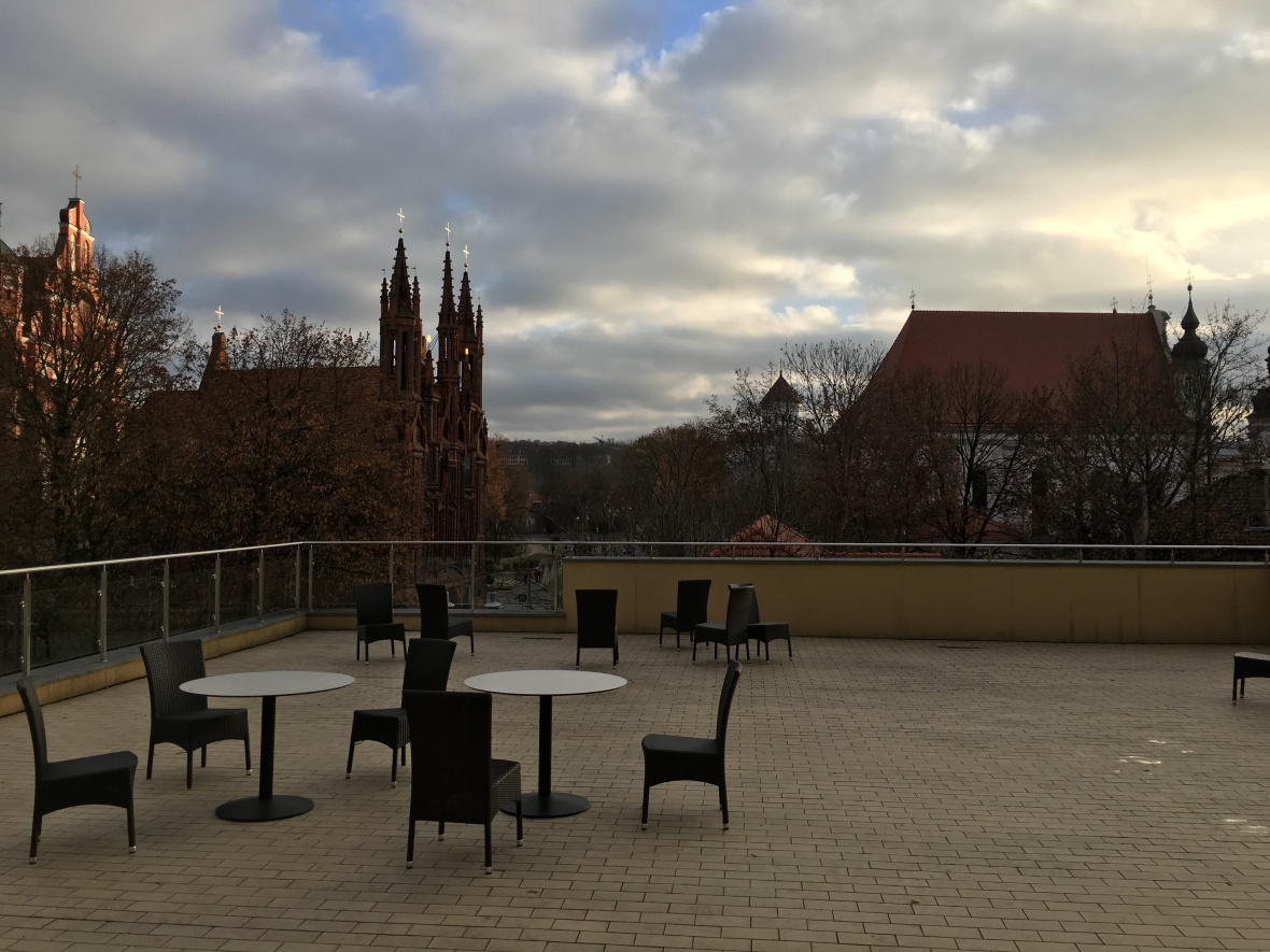 Beautiful terrace at the Academy
