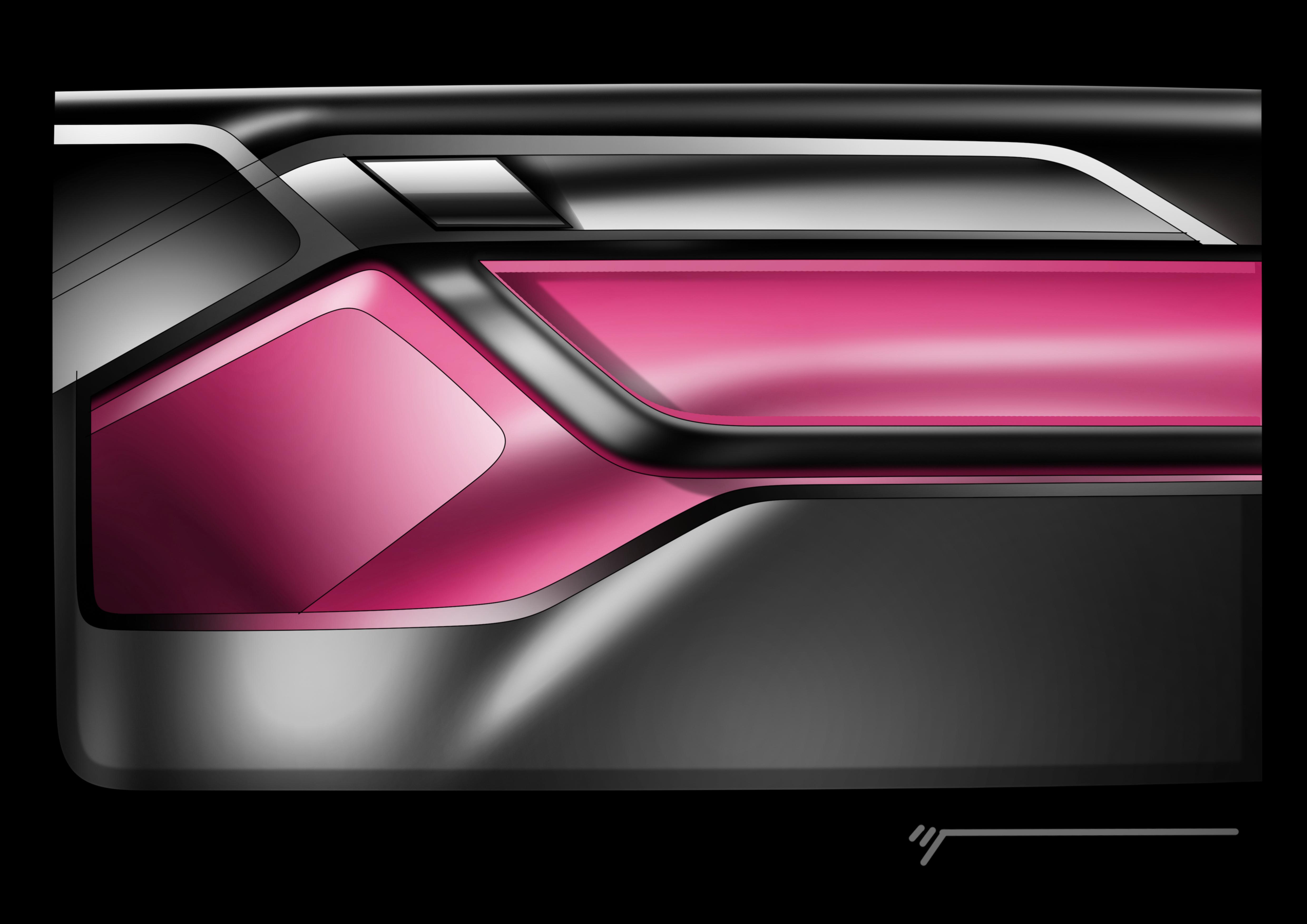Automotive interior design study door panel for Car interior door panel designs