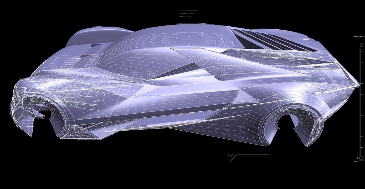 Catia IMA exterior model structure
